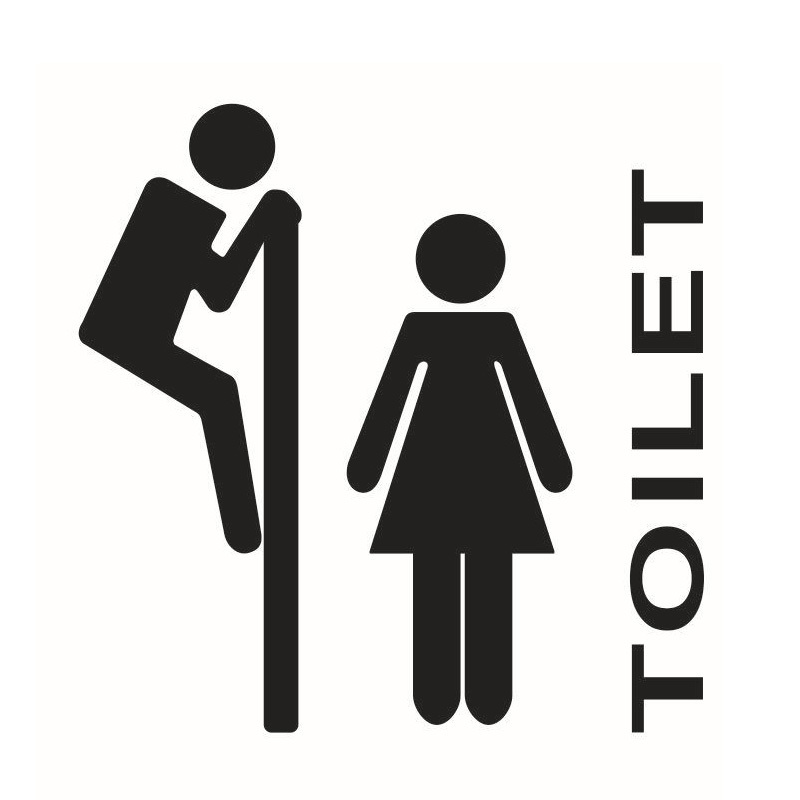 Funny Men Women Pattern Toilet Bathroom Door Sticker Decal Sign Decor HSLN 69288 In Wall Stickers From Home Garden On Aliexpress