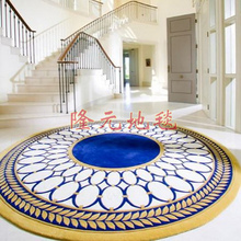 250 250cm 2017 The Latest European Fashion Carpet Sitting Room Bedroom Circle Rug Abstract Leaves Acrylic Carpets
