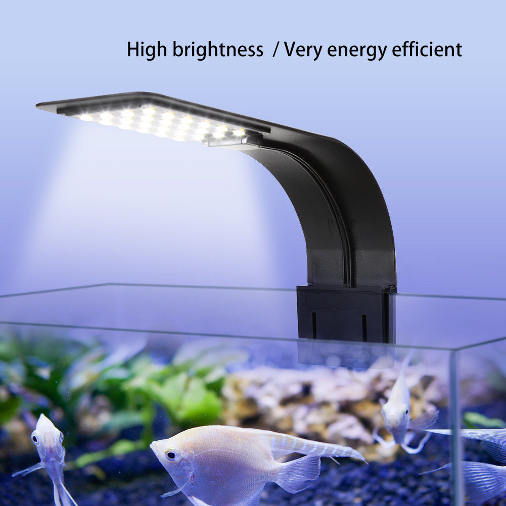 5W/10W LED Aquarium Light Lighting plants Grow Light Energy-Saving Aquatic Plant Lighting Clip-on Lamp For Fish Tank EU Plug Hot ...