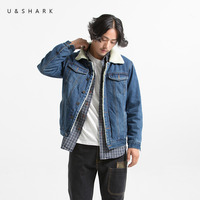 U SHARK 2017 Winter Denim Jacket Men Casual Jeans Coats Wool Liner Outerwear Thicken Jackets Male