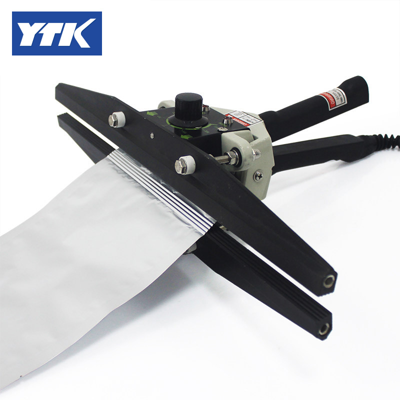 YTK FKR-200 Hand Impulse Sealing Machine With Cutter Handheld Heat Impulse Sealer Manual Sealing Machine