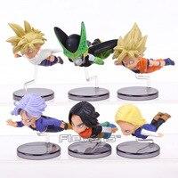 Dragon Ball Z Fliegen Super Saiyan Goku Gohan Android NO. 18 NO. 17 Cell Trunks PVC Figuren Sammeln Modell spielzeug 6 teile/satz