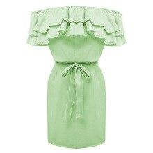 Lossky Women Dresses Striped Summer Dress Ruffle Collar 2018 Bandage Sundress Casual Sexy Bodycon Summer Dress Vestido De Festa