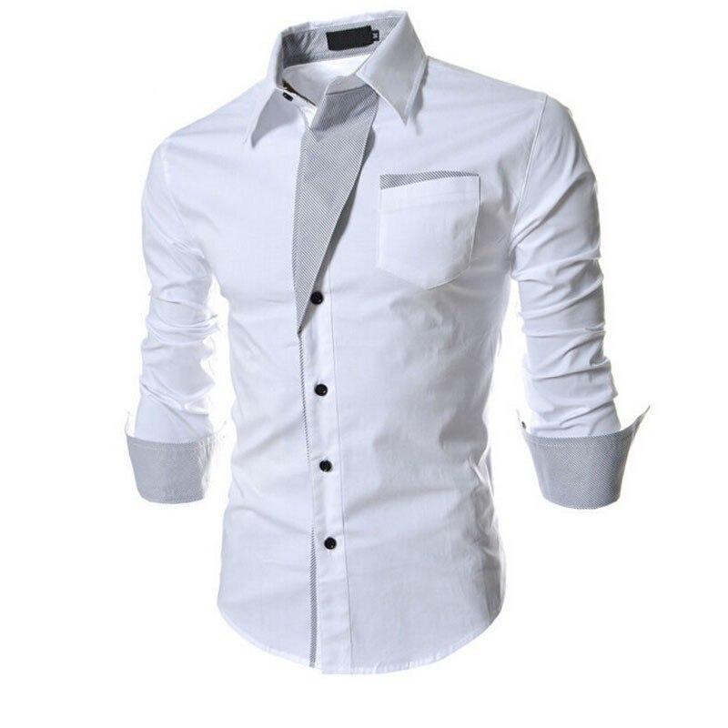 New Men Clothes Casual Shirts Long Sleeve Shirt Men Slim Fit Brand Male Shirt camisa masculina size M--XXXL Dropshipping 1