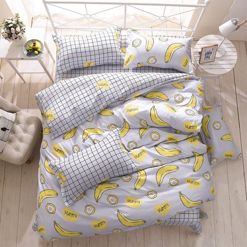 Фрукты Банан Малый планета взрослых постельное белье Стёганое одеяло покрывало лист наволочка дети Постельное белье постельное белье Twin ... ...