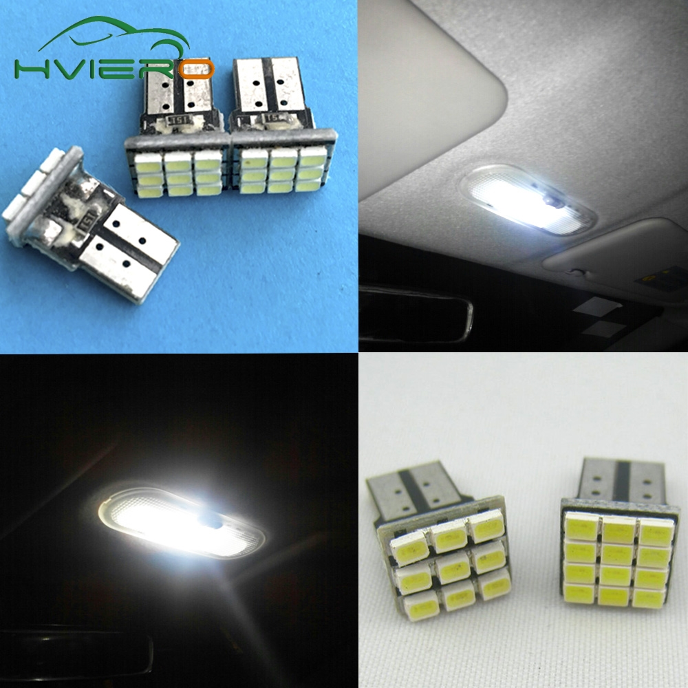 Car styling white 2x T10 W5W 1206 3020 9 SMD Car LED Auto Marker backup Bulb Interior Lamps parking lights Clearance bulb 12V DC t10 1 68w 24 3020 smd led white light car steering lamps dc 12v 2 pcs