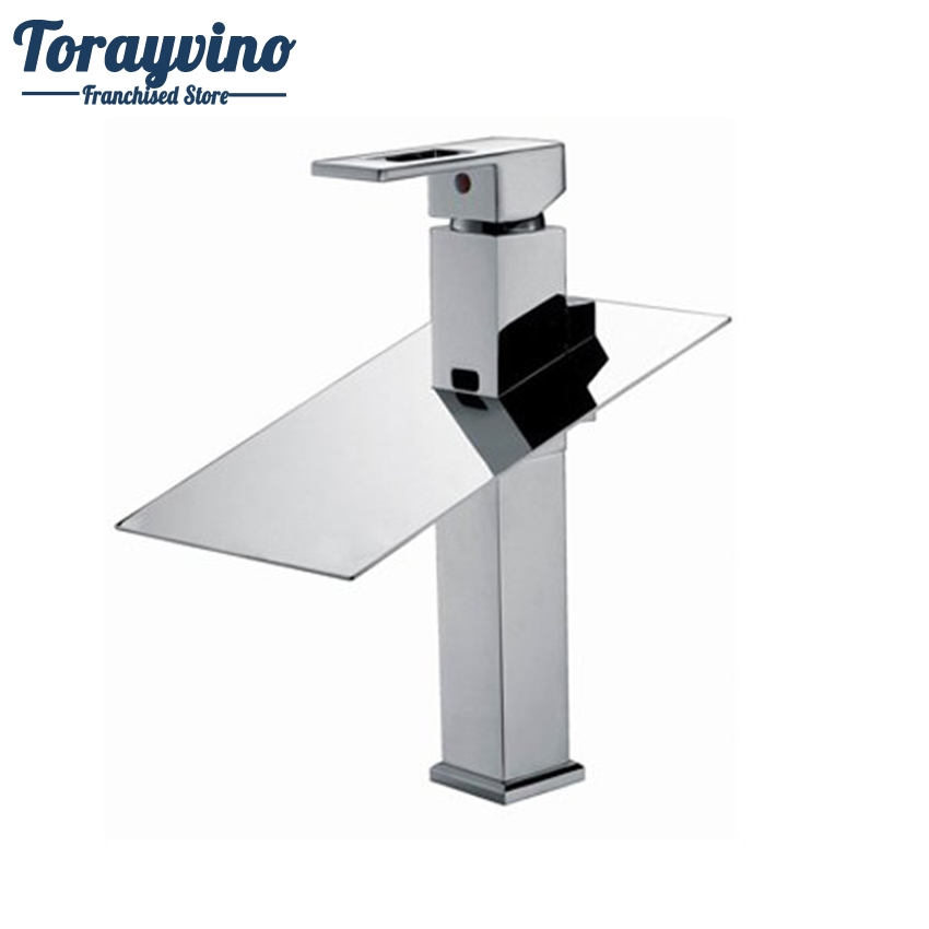 Torayvino Basin Faucet Tall Water Tap Bathroom Sink Mixer Waterfall Torneira Chrome Vanity Vessel Sinks Mixers Taps Faucets free shipping polished chrome finish new wall mounted waterfall bathroom bathtub handheld shower tap mixer faucet yt 5333