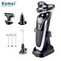 Kemei5181 4 em 1 Lavável Recarregável Barbeador Elétrico Triple Blade Barbear Lâminas De Barbear Elétrico Face Care 3D Flutuante Frete Grátis