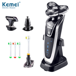 Kemei5181 4 in 1 washable rechargeable electric shaver triple blade electric shaving razors face care 3d.jpg 250x250