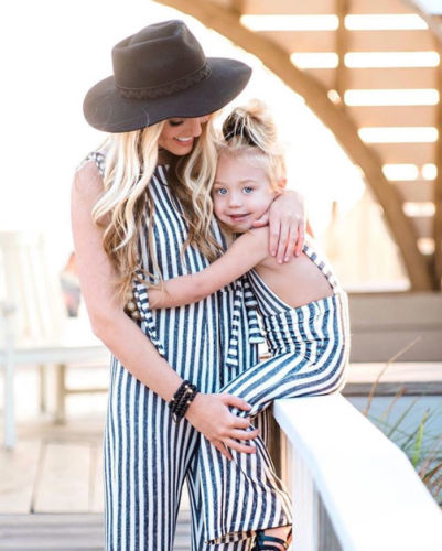 226c24e1450 2018 Newest Fashion Kids Baby Girls Striped Brace Pants Overalls Romper  Bell Strap Bottom Outfits Clothes 0 5Years-in Overalls from Mother   Kids  on ...