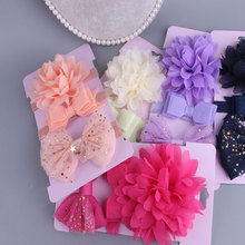 Sweet Baby Korean girls headband flowers Bow knot hair bow children cute hair band Set Card hair Accessories head wear high elasticity baby sweet hairbands mesh bow knot headband girls lovely princess crown hair accessories cute elastic head wrap