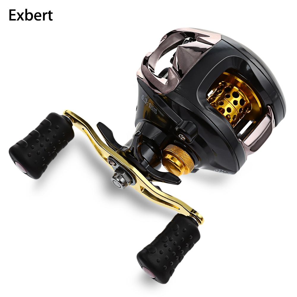 Exbert Fish Reel 12 + 1 Ball Bearings 6.3:1 Gear Ratio Bait Casting Reel Right / Left Hand Magnetic Braking System Fishing Reels