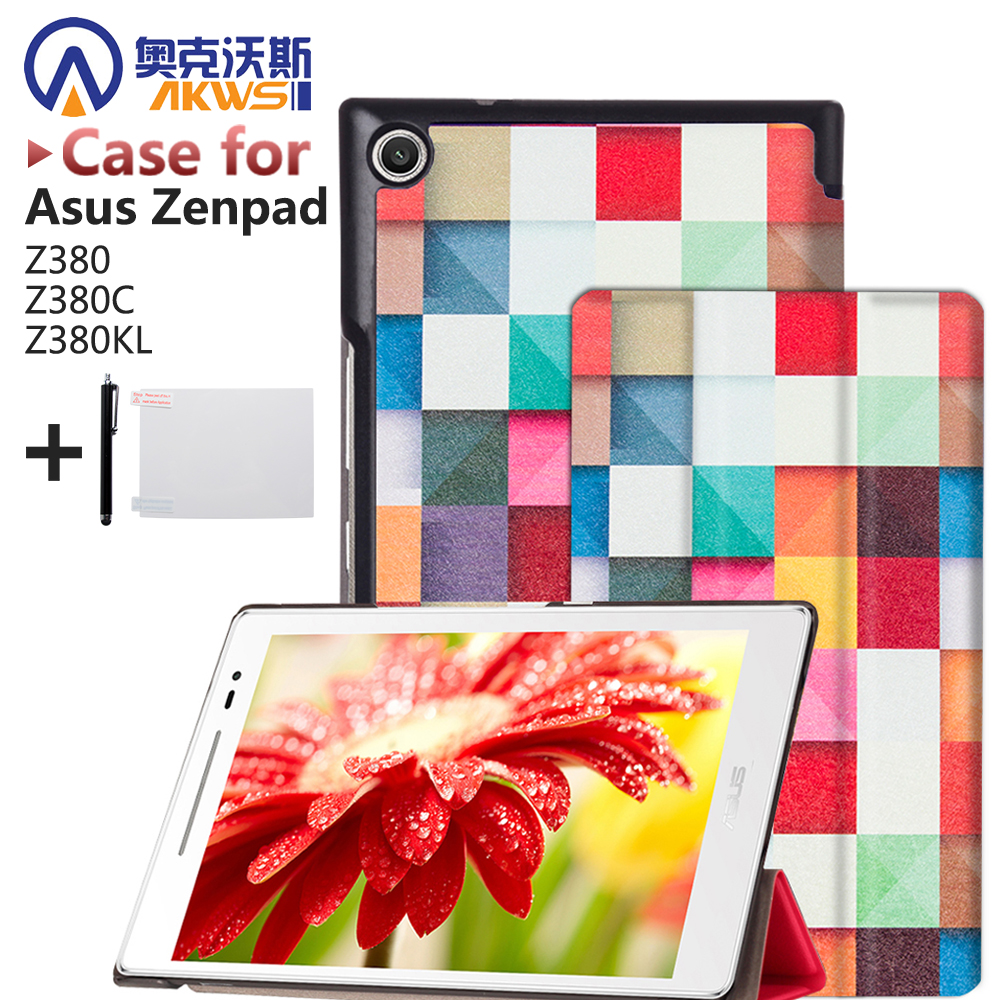 Magnet Leather Cover Stand Case for Asus Zenpad 8.0 Z380 Z380C Z380KL T