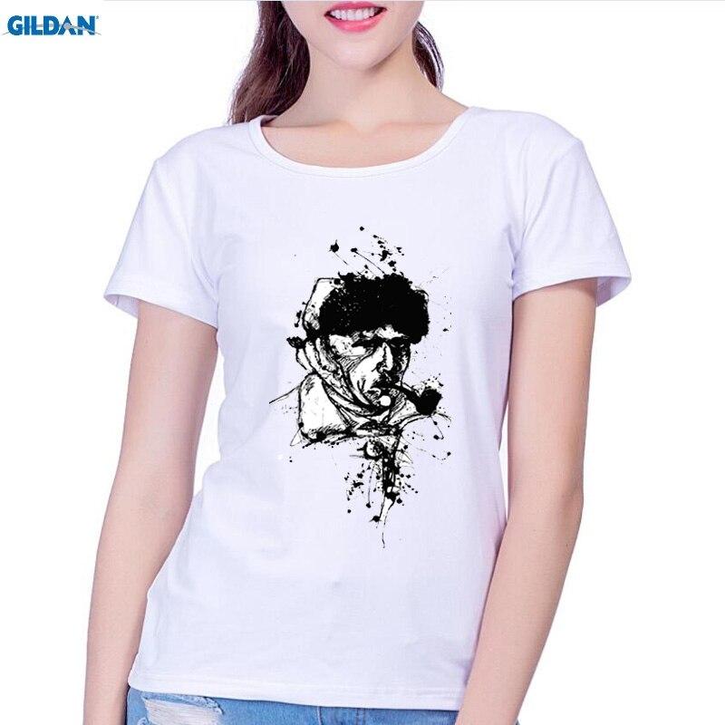 GILDAN Nueva Llegada mujeres de la Manera de Van Gogh camiseta Diseño de La Camiseta Inconformista del Cool Tops de Manga Corta Camisetas