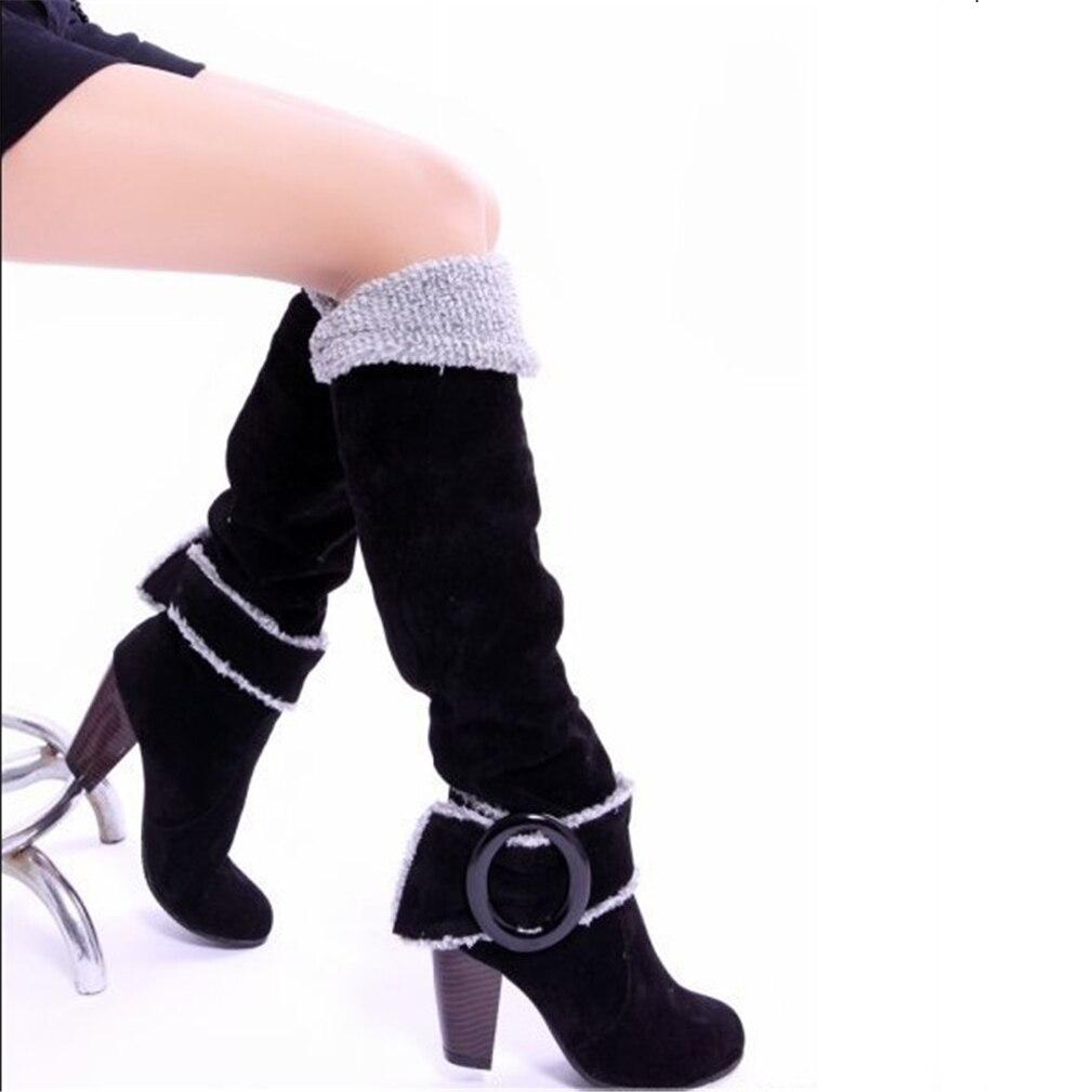 ФОТО Women's Shoes winter Womens winter boots women's black snow over knee long boots Snowshoes  snowboots high heel woman femmes