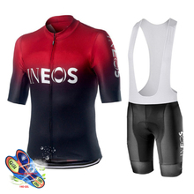 Cycling Jersey 2019 Pro Team INEOS Summer Cycling Jersey Set Breathable Racing Sport Mtb Bicycle Jerseys Men's Cycling Clothing