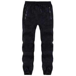 Image 4 - Pantalones de chándal de talla grande para hombre, pantalón cálido, con cintura elástica, de camuflaje, informal, grueso, de terciopelo, para invierno, 8XL, 7XL, 6XL, 5XL
