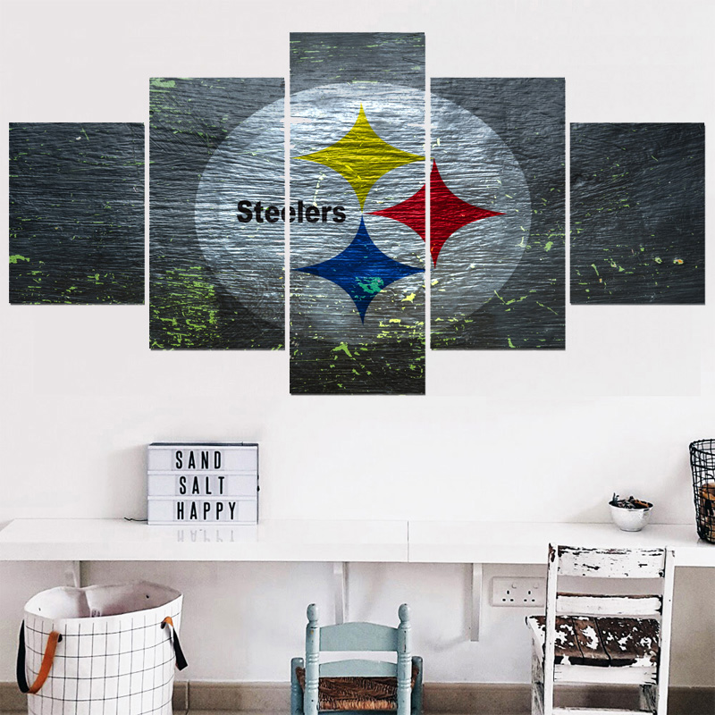Modern Home Decor Picture Pittsburgh Steelers 5 Panel Canvas ...
