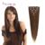Clipe direto brasileiro Em extensões do cabelo humano 100% natural do cabelo virgem grampo em extensões do cabelo humano real clipe em