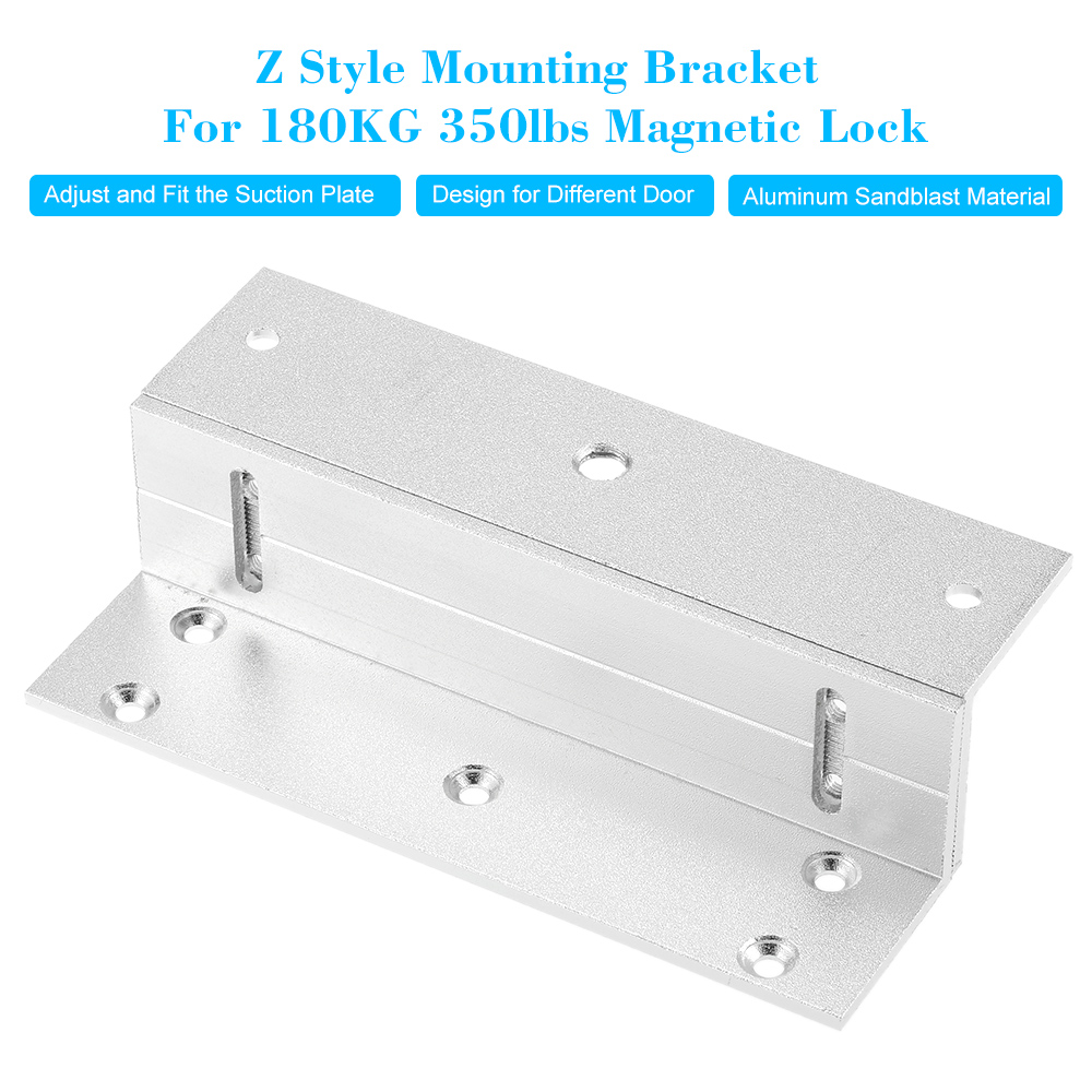 Z Holder Stand Stents Aluminium Alloy Mounting Magnetic Lock Bracket Clamp For 180KG 350lbs Force Magnetic Lock Door