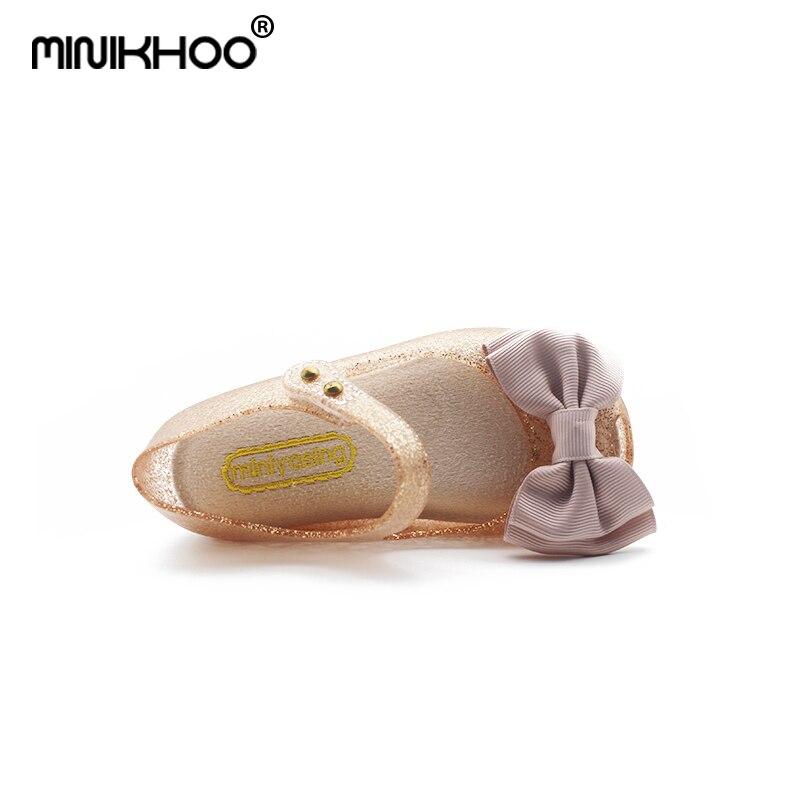 2017 mini melissa meisjes jelly sandalen doek boog antislip kinderen - Kinderschoenen - Foto 5