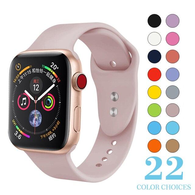 Сменный спортивный браслет из мягкого силикона 38 мм для Apple Watch, версии Series1 на возраст 2, 3, 4, 42 38 мм, браслет на запястье, ремешок для наручных часов iWatch модель Sports