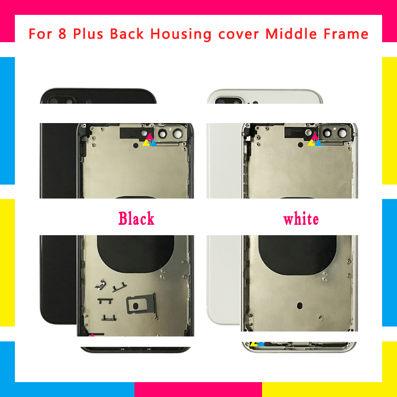 3Pcs High Quality Back Housing cover Battery Cover Rear Door Chassis Frame For iphone 8 8G