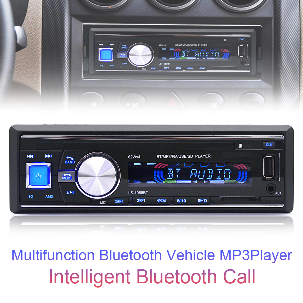 1068 1din 12v bluetooth auto car fm radio stereo audio. Black Bedroom Furniture Sets. Home Design Ideas