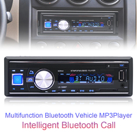 1068 1Din 12V Bluetooth Auto Car FM Radio Stereo Audio Player Support Handsfree Call AUX MP3