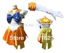Новый Аниме Довольно Солдат Сейлор Мун Сейлор Венера японского аниме косплей костюм женский Halloween Party Любой Размер