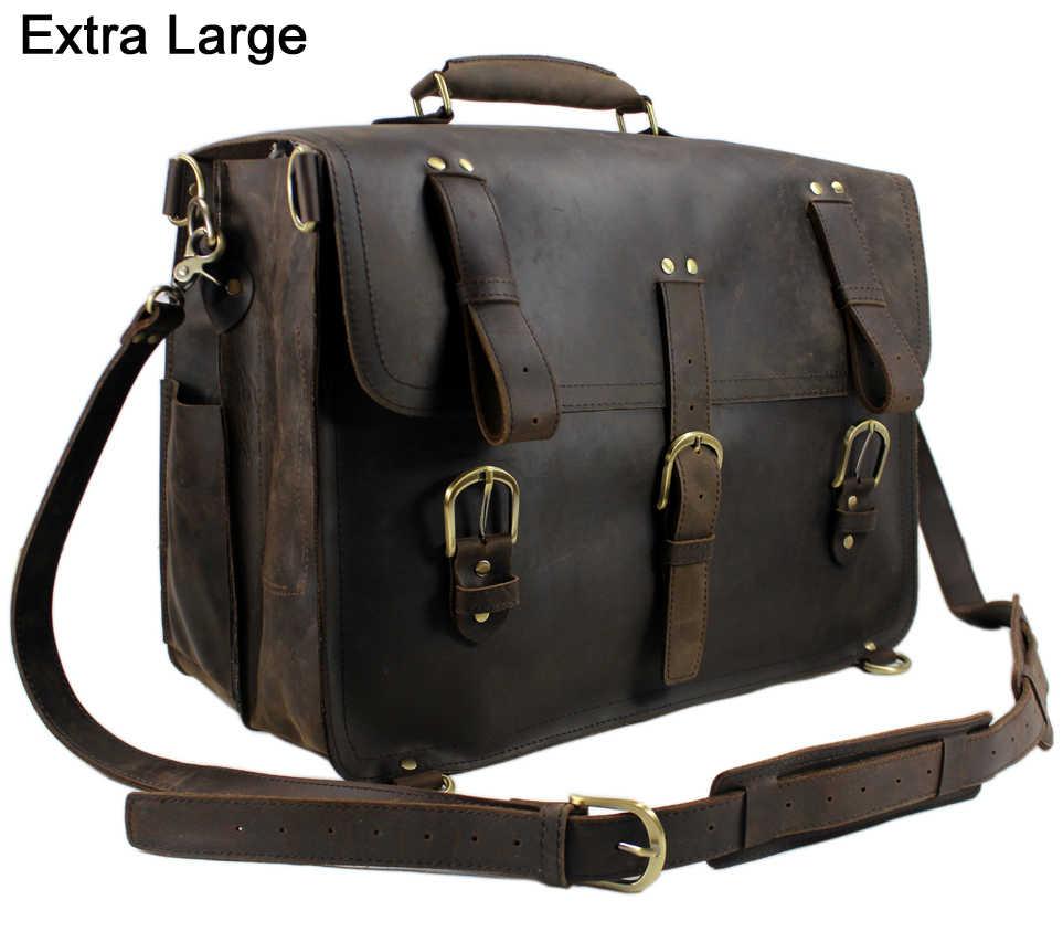 4211a213bc5e Винтажные мужские дорожные сумки, натуральная кожаная сумка для багажа  большой дорожный рюкзак, мужская дорожная
