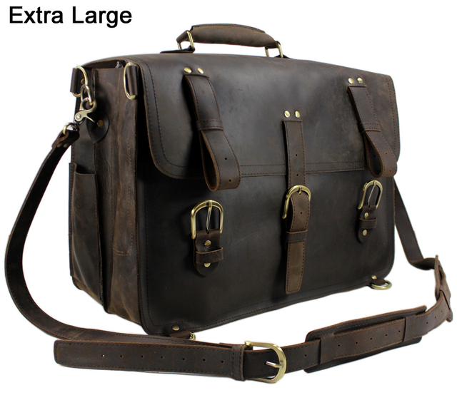 Vintage Men S Travel Bags Genuine Leather Luggage Bag Large Backpack Duffle Weekend