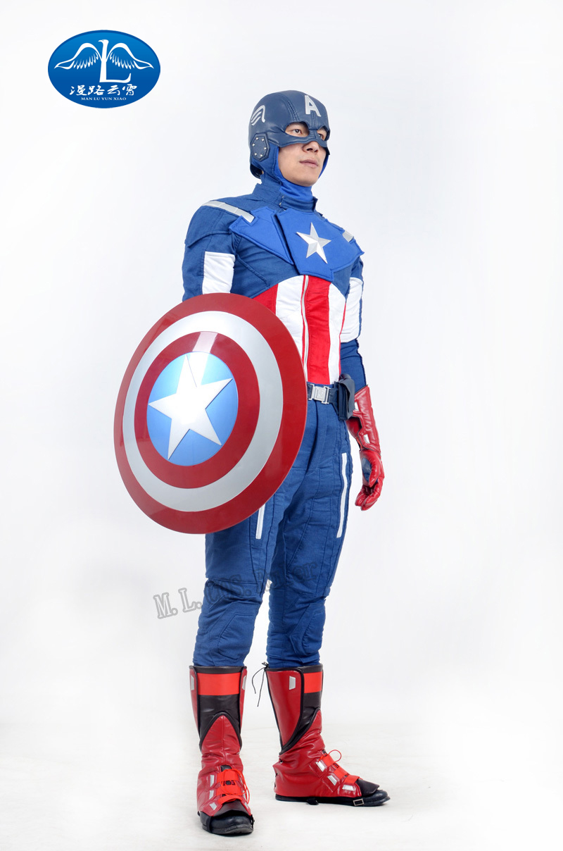 Avengers Captain American Theatrical Quality Cosplay Costume  for Hallowmas