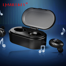 True Wireless Stereo Earbuds TWS Bluetooth Earphone Hands-free Earpiece with Mic Charger Dock for IOS Android Phone YZ143