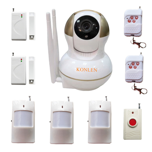 Wireless Burglar Home Alarm Video Network IP Camera WIFI House ...