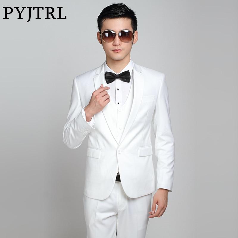 (Jaqueta + Calça) moda Masculina Ternos de Negócio Ternos de Casamento Ternos dos homens Magros Roupas de Marca Para Os Homens Mais Recentes Modelos Casaco Calça