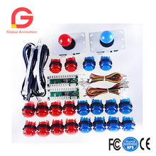 LED Arcade DIY Parts 2x Zero Delay USB Encoder + 8 Way Joystick 20x Push Buttons