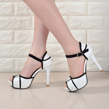 Wholesale Low Price 2016 Fashion Womens Shoes Peep-toe Pumps Sexy 14CM Super High Heels Vogue Crossover Hasp Shoes