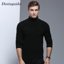 2018 New Arrival Spring Winter Long Sleeves Turn-Down Collar 100% Wool Solid Color Smart Casual Men's Sweater MSW055