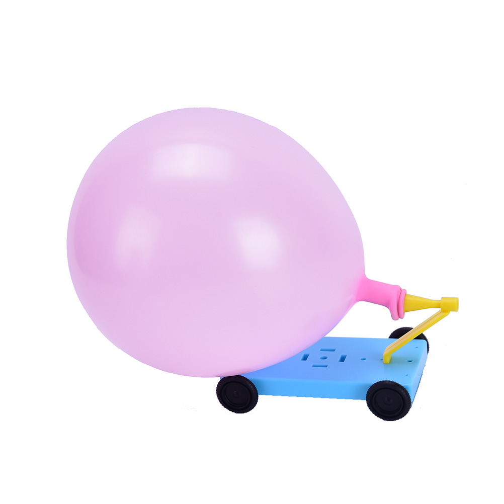 Physical Experiments Homemade Balloon Recoil Car DIY Materials, Home School Educational Kit For Kids Students Teaching Resources