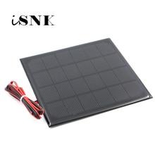 6 в 3 Вт с удлинительным кабелем 100 см, солнечная панель, поликристаллический кремний, DIY модуль зарядного устройства для аккумулятора, миниатюрный провод для солнечной батареи, игрушка