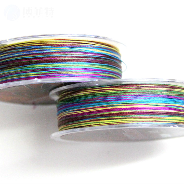 High quality 8 strand series one meter raft fishing line counting line PE line colorful horse fish line of 100 meters
