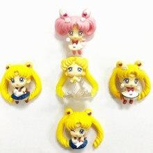 5 colour Sailor Moon Figures Tsukino Usagi Mars Jupiter Venus Action PVC Figure Toy with box