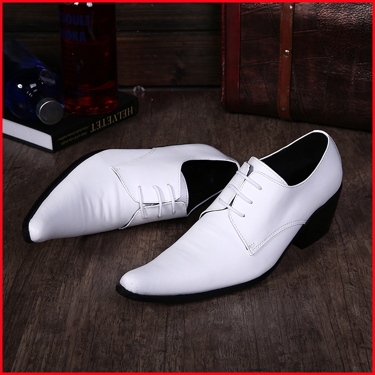 Men red and white dress shoes