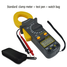 201 series portable digital display clamp multimeter HD backlight current meter resistance AC current clamp meter