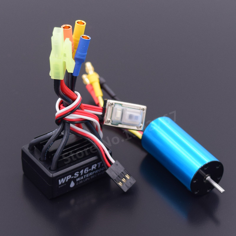 Powerful Brushless Modification Kit 2040 Brushless Motor 4800KV & 25A ESC Waterproof For RC Car WLtoys 1/18 Scale A959 A969 A979