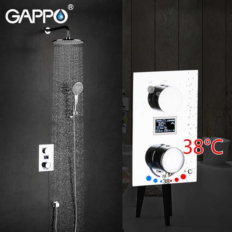 GAPPO caixa misturador banheira chuveiro Torneiras Banheira Torneiras chuvas misturador do chuveiro escondida banheiro chuva chuveiro misturadores