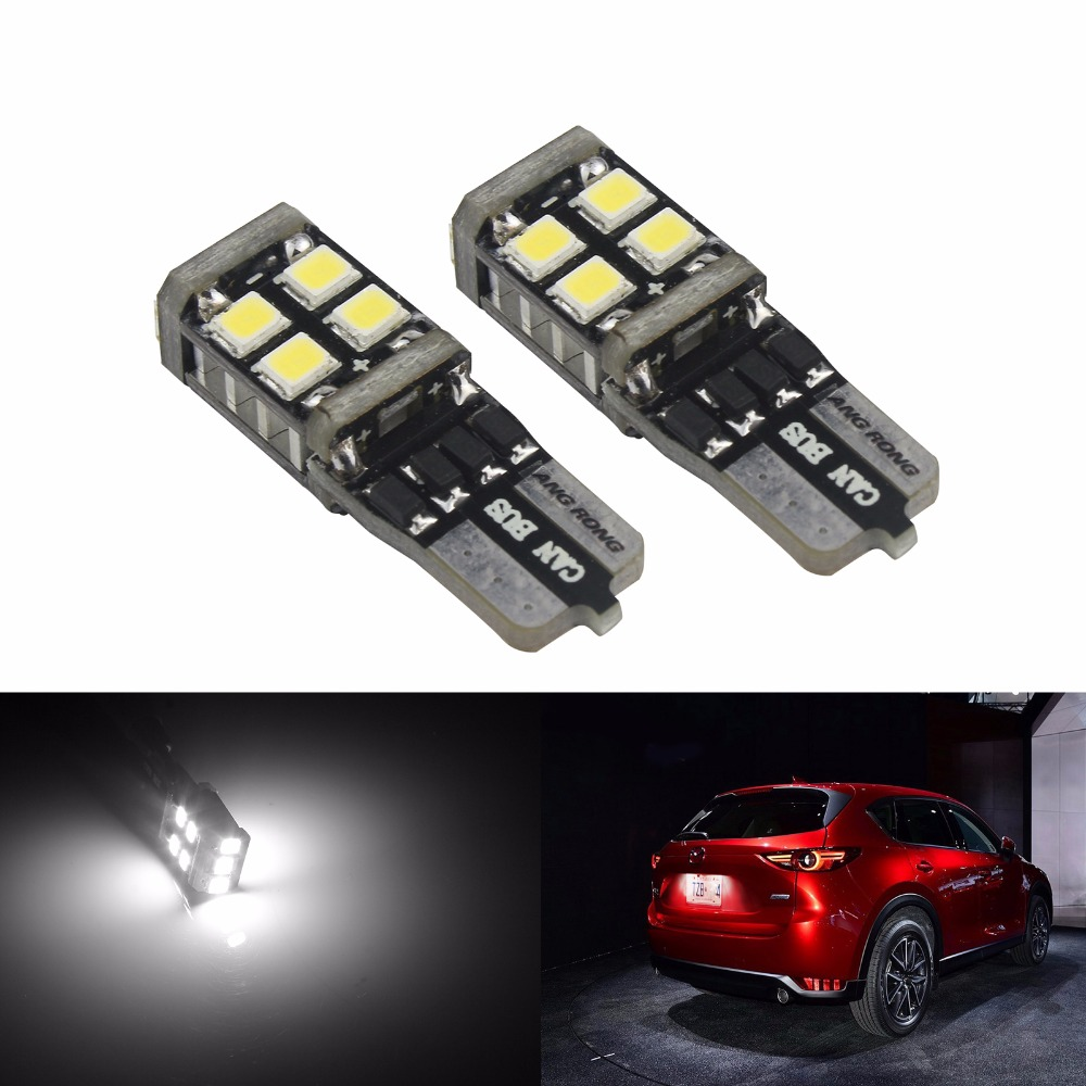 2x Mercedes Vito W639 501 Bright Xenon White 8SMD LED Canbus Number Plate Bulbs