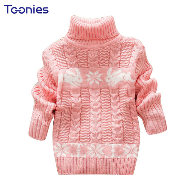 d8d14caf2 Hot Sale Girl Sweater 2017 Winter Kid Sweaters Turtleneck Girls ...