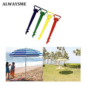 ALWAYSME Patio Umbrella Base Screw In Parasol Base Ground Anchor Spike Stand Beach Sofa Hang Hammock Garden Umbrella Holder Base